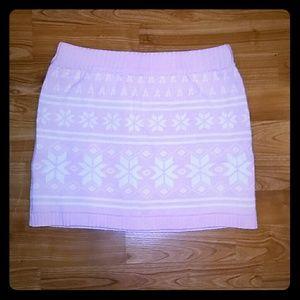 Baby pink winter skirt